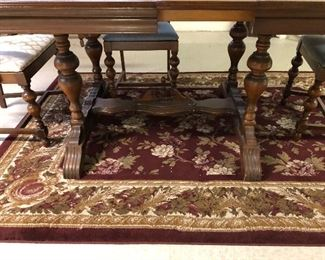 FABULOUS  ANTIQUE WOOD DINING TABLE