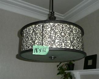 "Ceiling Light Fixture 18"" with Medallion $55.00., matches Pendent lights."
