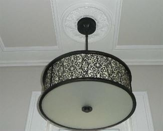 "24"" Ceiling Light Fixture with Medallion $75.00."