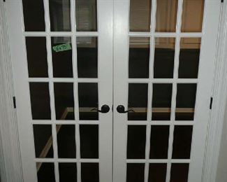 "5' X 75"" French Doors, $125.00."