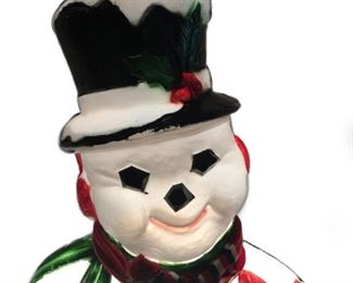 Lot 001 Frosty The Snowman Blow Mold