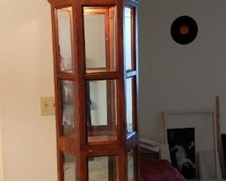 Curio cabinet with light