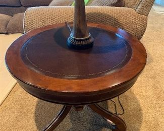 2 round matching side tables