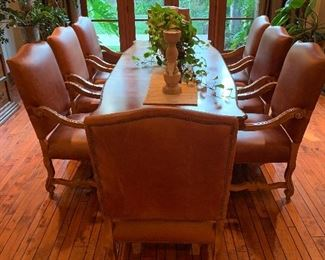"Dining room set. Table is 108"" long and 45"" wide. Excellent condition"