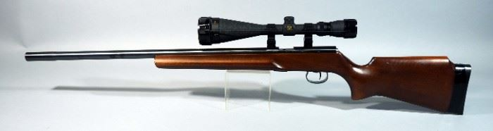 J.G. Anschutz GmbH Ulm West Germany Model 64 .22 LR Bolt Action Rifle SN# 3030702, With Simmons Whitetail Classic Model 800067 6.5-20 x 50 Scope