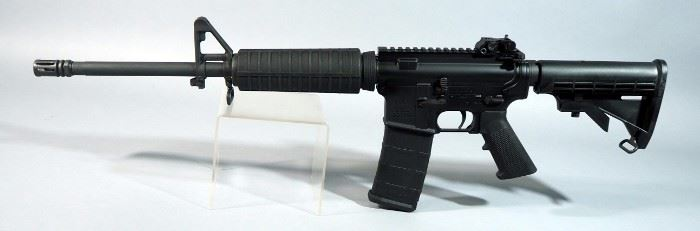 Del-Ton Model DTI-15 5.56mm Rifle SN# DTI-5133900, With Adjustable Stock And Flip-Down Rear Sight