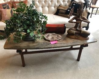 Mid Century Slate coffee table