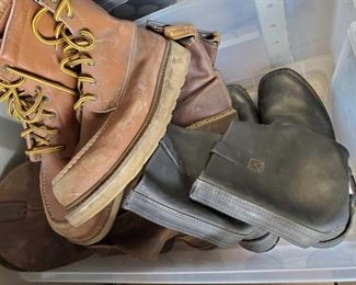 4005: Dr. Martens, Die Hard, Wesco and Justin Mens Boots Sizes vary from 12 to 13EE