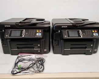 4500: Two EPSON WorkForce WF-3640 Printers Two EPSON WorkForce WF-3640 Printers. One has powerd and HDMI Cords