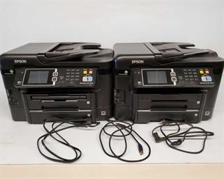 Lot # 4501: Two EPSON WorkForce WF-3640 Printers Two EPSON WorkForce WF-3640 Printers. Lot has two power cords and HDMI cord included