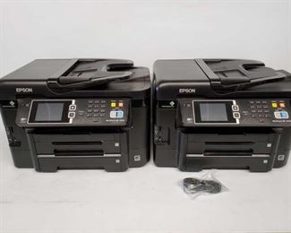 Lot # 4502: Two EPSON WorkForce WF-3640 Printers Two EPSON WorkForce WF-3640 Printers. One has internet cable. No power cables