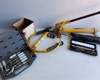 Lot # 4505: Enerpac Hydraulic Pump P39, Hydraulic Cylinder RC57 and More Enerpac Hydraulic Pump P39, Hydraulic Cylinder RC57 and More