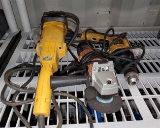 Lot 4536: Electric Sander, Angle Grinder and Hammer Drill Electric Sander, Angle Grinder and Hammer Drill