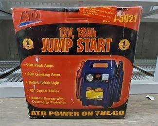 4532: New in Box ATD 12V, 18Ah Jump Start ATD 12V, 18Ah Jump Start