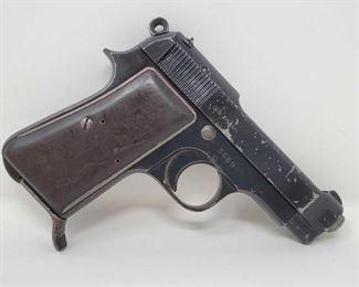 "605: Beretta 1944 7.65 Cal Semi-Auto Pistol with Wood Case Serial Number: 566997 Barrel Length: 3.5"""