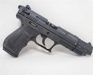 """610: Walther P22 .22lr Semi Auto Pistol with 10 Round Magazine and Case Serial Number: N052374 Barrel Length: 5"""""""