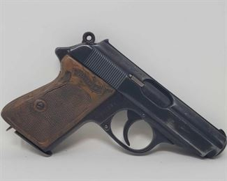 """615: Walther PPK 7.65mm Cal Semi Auto with Magazine Includes magazine Serial Number: 182745 Barrel Length: 3.125"""""""