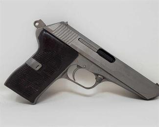 "625: CZ X54 7.62x25mm Semi-Auto Pistol Serial Number: LV10875 Barrel Length: 4.5"""