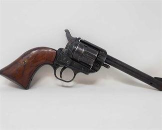 "785: Reck Single Action .22 Long Rifle Revolver Serial Number: 81655 Barrel Length: 4.875"""