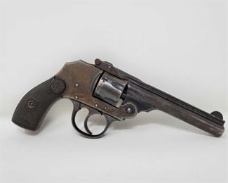 """790: Iver Johnson Top Break .38 Cal Revolver with Leather Holster Serial Number: B82807 Barrel Length: 4"""""""