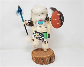 """1076: Wooden Native American Kachina Doll Measures approx 12.5"""""""