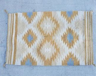 """1034: Hand Wooven Native American Blanket Measures approx 37""""x24"""""""