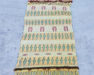 """1040: 1040: Woven Tapestry Measures approx 65""""x35"""""""