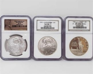 2031: Four .900 Silver Coins Two 2008 P Bald Eagle S$1 .900 Silver Coins. Grades are: MS 70 and PF 70 Ultra Cameo. One 2015 W S$1 March Of Dimes Set PF 70 Ultra Cameo. One 2015 Commemorative Inaugurated President John F. Kennedy Chronicles Set PCGS MS70