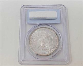 2052: 1885-S Morgan Silver Dollar - PCGS Graded PCGS Graded MS63 San Francisco Mint