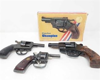 799: 3 Starter Pistols Includes H & R Model 960 .32 Cal S&W Blank Serial Number: AC36735 Precise Champion Athletic Starter Revolver .32 & .22 Model 30134 PIC Starter Pistol