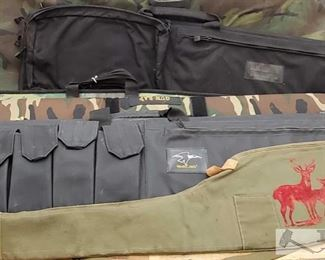 """884: 5 Rifle Cases Measurements range from approx 46"""" - 56"""""""
