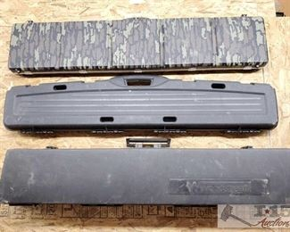 """887: Three Hard Rifle Cases Measures approx 52"""" and 50"""""""