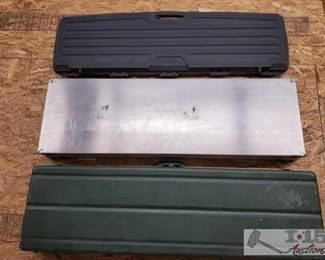 """888: Three Hard Rifle Cases Each one measures approx 51"""" long"""