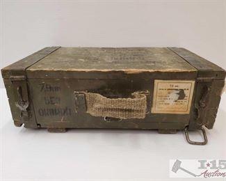 #980 • Wooden Ammo Box