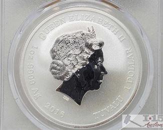 #2021 • .999 Fine Silver 2016-P 75th Anniversary Pearl Harbor Commemorative 1 Oz Coins - PCGS Graded