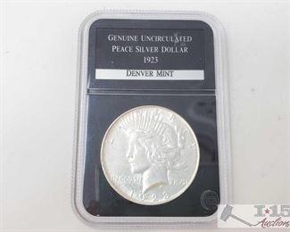 #2070 • 1932-D Silver Peace Dollar - Graded Denver Mint