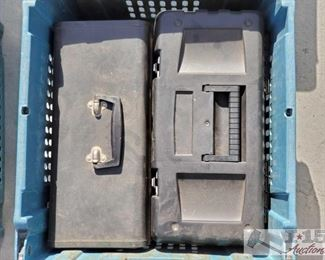 #4102 • Two Tool Boxes with Tools this collection has two tool boxes with various tools in great shape inside them
