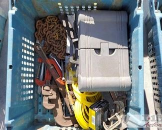 #4103 • Various Tools and Items collection includes two tool boxes with tools nails, and much more