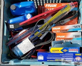 #4114 • Various Car Items and More: Air Filters, Windshield Wipers Transmission Fluid and more!!!!