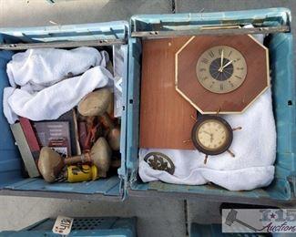 #4133 • Dishes, Seashells, Ash Trays, Clocks and more!