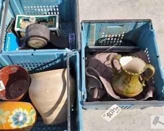 #4138 • Planter Pots, Clocks, Toshiba Labtop, Oil Lamp and nore!