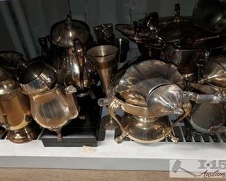 #4573 • Silver Plated Dishes brands from Leonard, Wallace and More