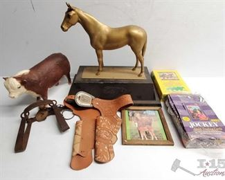 #4580 • Jockie Trading Cards, Trophy without Plaque, Metal Trap and more!