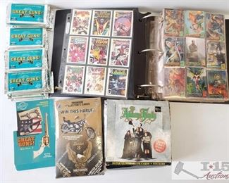 #4595 • Comic Book, Great Guns, Harley-Davidson and Adams Family Collector Cards