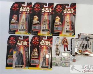 #4597 • Starwars Episode 1 CommTech Chip Collectors Figurines