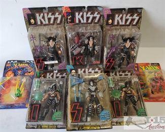 #4598 • KISS McFarlane Toys Figures and Toy Biz Marvel Comics Figures