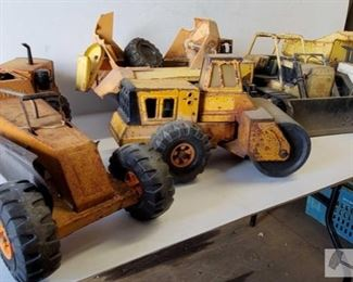 #4601 • 5 Vintage Tonka Trucks Heavy Equipment