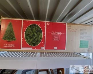 #4620 • 7 Ft. Frosted Roosevelt For Christmas Tree