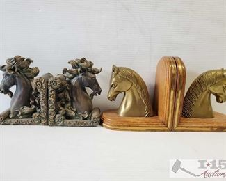 #4622 • 2 Set of Horse Book Ends