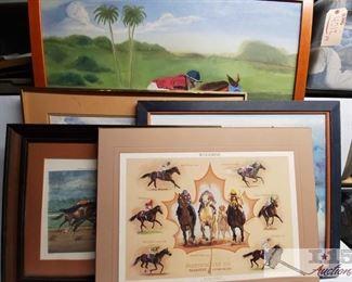 #4636 • 5 Jockey Racing Framed Art